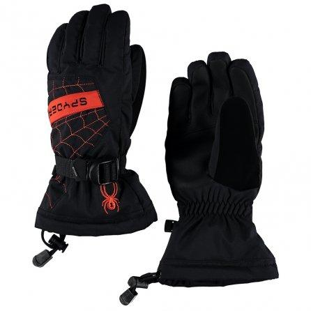 Spyder Overweb Ski Gloves (Boys') - Black/Burst