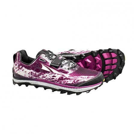 Altra King MT Running Shoes (Women's) - Grey/Magenta