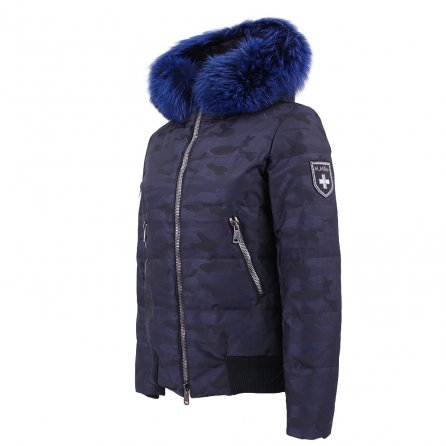 M.Miller Adi Insulated Ski Jacket with Real Fur (Women's) - Navy Camo