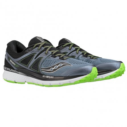 Saucony Triumph ISO 3 Running Shoes (Men's) - Grey/Black/Slime