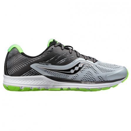 Saucony Ride 10 Running Shoes (Men's) - Grey/Black/Sime