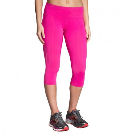 Brooks Go To Capri Compression Running Pant (Women's) - Petal