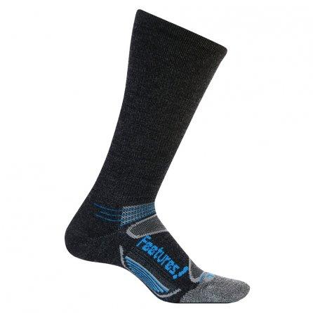 Feetures! Elite Merino+ Wool Crew Running Socks - Charcoal/Brilliant Blue