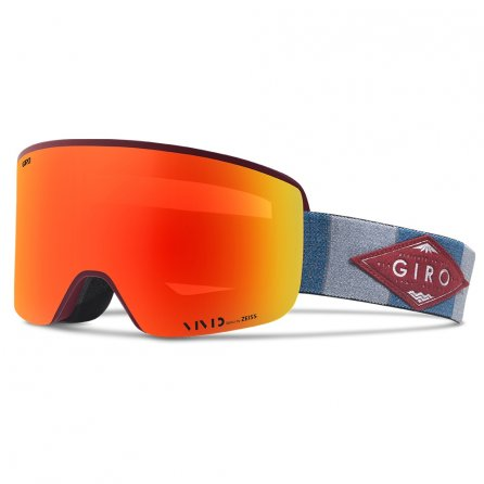 Giro Axis Ski Goggle (Adults') - Maroon/Titanium Mountain Division
