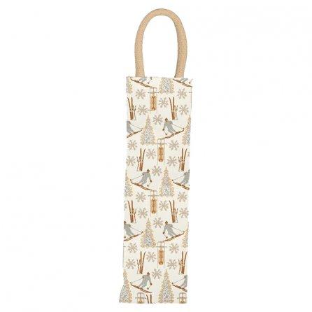rockflowerpaper Chalet Wine Gift Bag - Chalet Tan