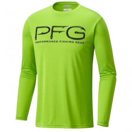 Columbia Terminal Tackle PFG Hooks Long Sleeve Shirt (Men's) - Green Mamba/Black
