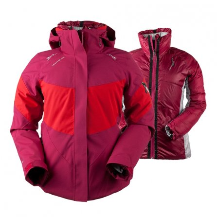 Obermeyer Double Dare 4-in-1 Insulated Ski Jacket (Women's) - Sangria