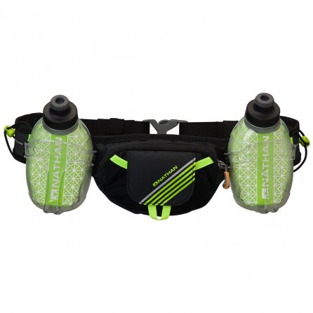 Nathan TrailMix Plus Insulated Hydration Belt - Black/Safety Yellow