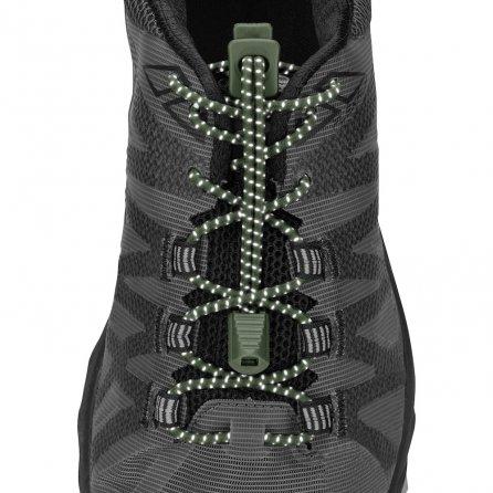 Nathan Reflective Run Laces - Bronze Green