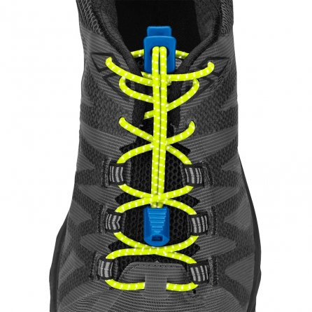 Nathan Reflective Run Laces - Safety Yellow/Electric Blue
