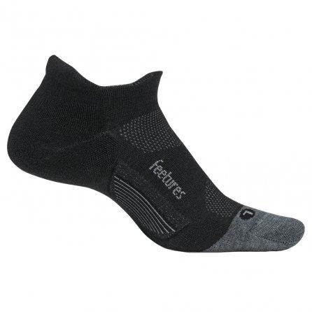 Feetures Merino 10 Cushioned No Show Tab Running Sock (Adults') - Charcoal/Gray