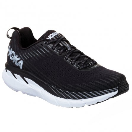 Hoka One One Clifton 5 Wide Running Shoe (Men's) - Black/White
