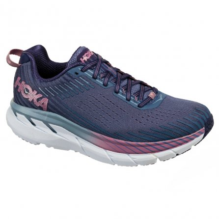 Hoka One One Clifton 5 Wide Running Shoe (Women's) - Marlin/Blue Ribbon