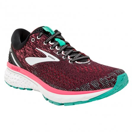 Brooks Ghost 11 Running Shoe (Women's) - Black/Pink/Aqua