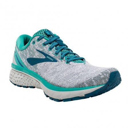 Brooks Ghost 11 Running Shoe (Women's) - White/Grey/Latigo