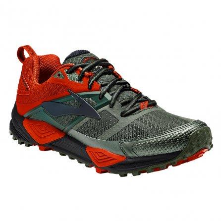 Brooks Cascadia 12 Trail Running Shoe (Men's) - Green/Orange/Black