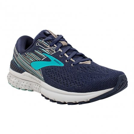 Brooks Adrenaline GTS 19 Running Shoe (Women's) - Navy/Aqua/Tan