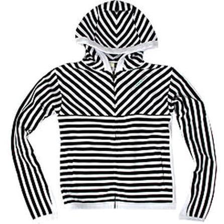 Special Blend Small Stripe Hooded Custom Zip Sweater (Women's) -