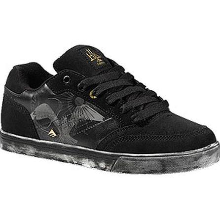 Emerica Kirchart SDK + Alien Workshop Skate Shoes, Black/White/Gold (Men's) -