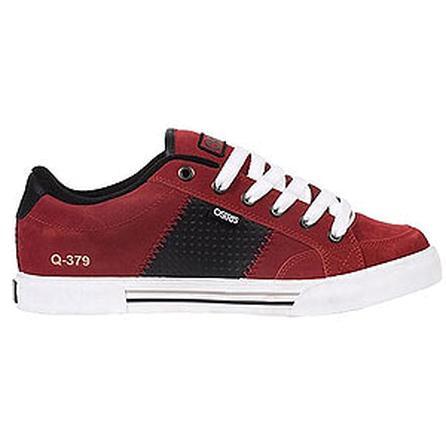 Osiris Q 379 Skate Shoes, Burgundy/Black/White (Men's) -