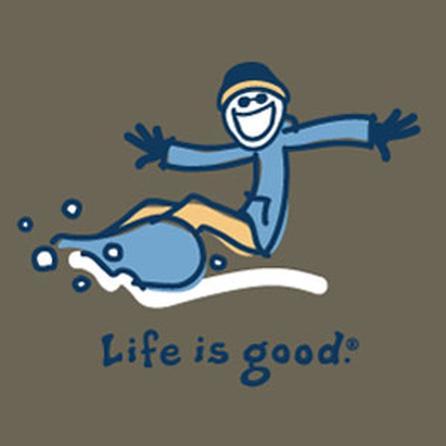 Life is Good Crusher Long Sleeve Snowboard Tee (Boys') -