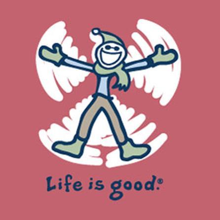 Life is Good Crusher Long Sleeve Snow Angel Tee (Girls') -