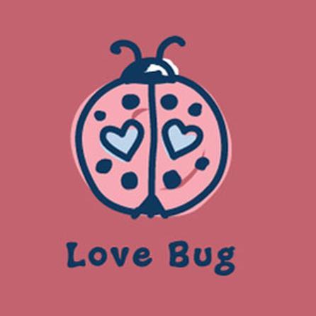 Life is Good Crusher Luv Bug Tee (Girls') -