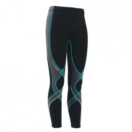 CW-X Insulated Stabilyx Baselayer Bottoms (Women's) - Black/Gray/Turquoise