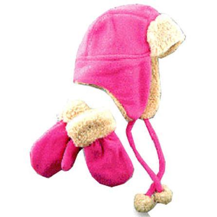 Elan Blanc Fleece Hat and Glove (Kids') -