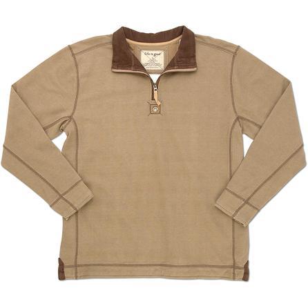 Life is Good Tailgate Half Zip Fleece Pullover Top (Men's) -