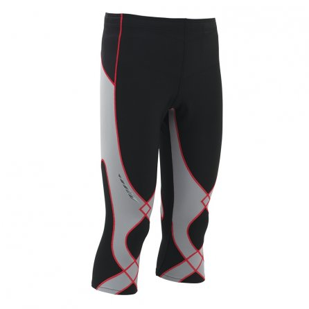 CW-X 3/4 Insulator Stabilyx Baselayer Bottoms (Men's) - Black/Grey/Red