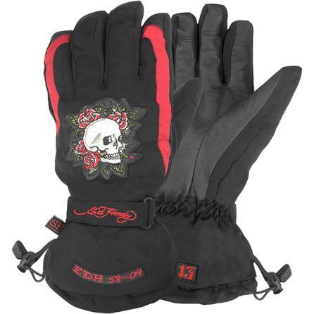 Ed Hardy Skull and Roses Glove (Men's) -