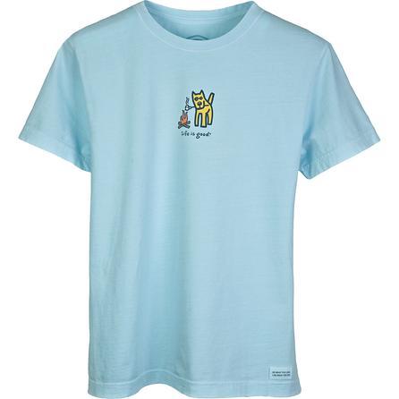 Life is Good Crusher Camp Dog T-Shirt (Women's) -