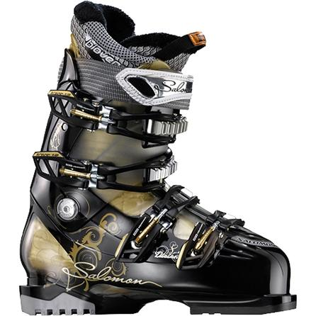 Salomon Divine RS 8 Ski Boots (Women's) - Black/Gold