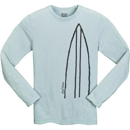 Life is good Good Vibes Surfboard Long Sleeve T-Shirt (Men's) -