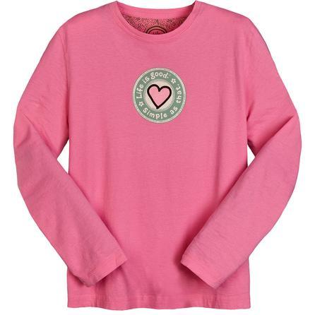 Life is good® Heritage Heart Long Sleeve Creamy T-Shirt (Women's) -