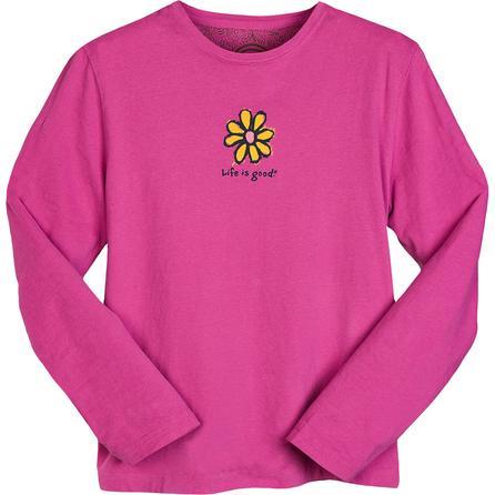 Life is good Charcoal Daisy Long Sleeve Creamy T-Shirt  -