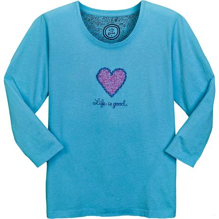 Life is good® Impressionism Heart Creamy Scoop ¾ Sleeve T-Shirt (Women's)  -