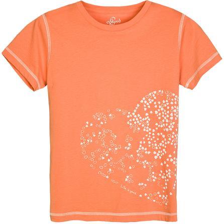 Life is good. Organic Heart T-Shirt (Women's) -