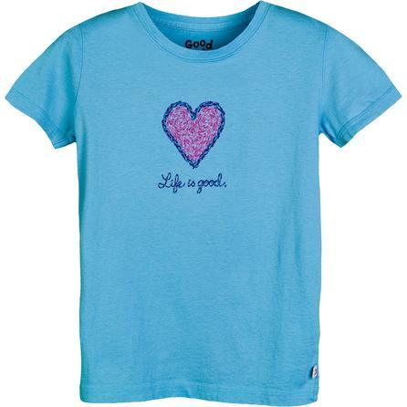 Life is good Impressionist Heart Creamy T-Shirt (Girls') -