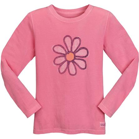 Life is good Crusher Daisy Sketch Long Sleeve T-Shirt (Girls') -