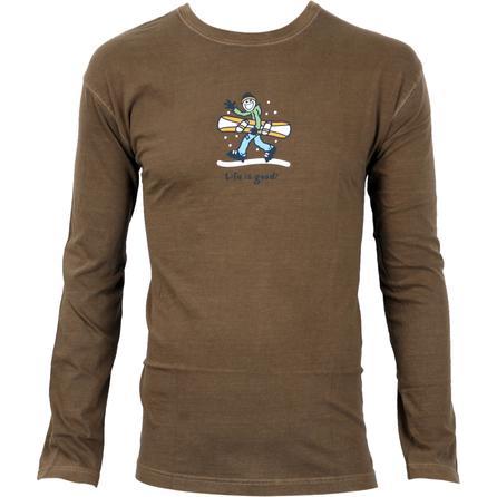 Life is Good Crusher Snowboard Jacket T-Shirt (Men's) -