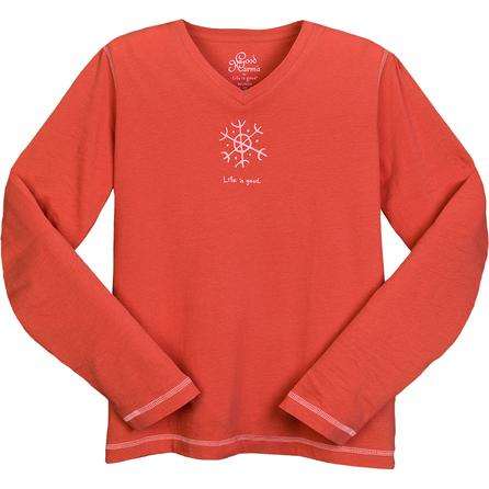 Life is good. Organic Snowflake Long Sleeve T-Shirt (Women's) -