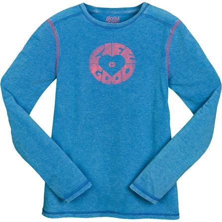 Life is good.  Airbrush Heart Longsleeve T-shirt (Women's) -