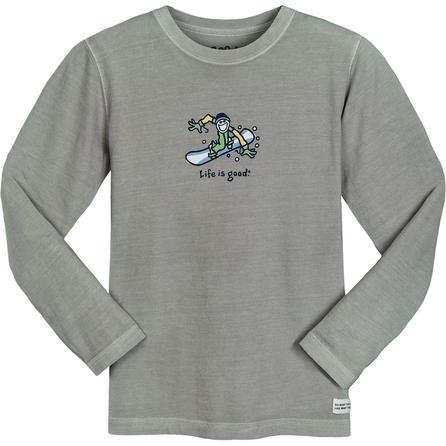 Life is good Aerial Snowboard Crusher Long Sleeve T-Shirt (Boys') -