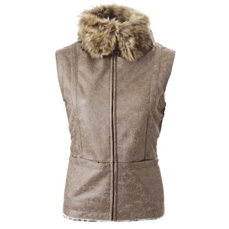 Montanaco Faux Shearling Aviator Vest (Women's)  - Taupe