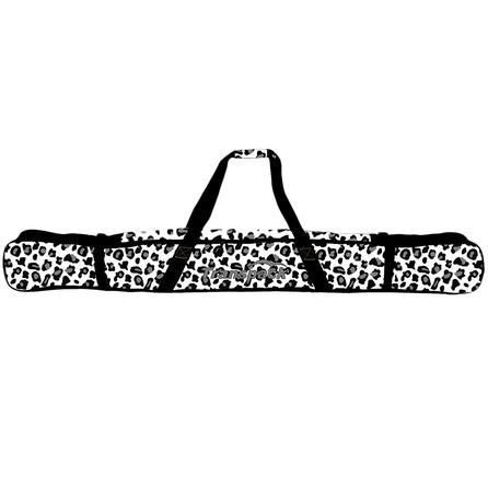 Transpack Print Single Ski Bag - 168 - White/Gray Leopard