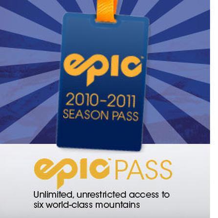 Vail Resorts 2010-2011 Epic Pass -