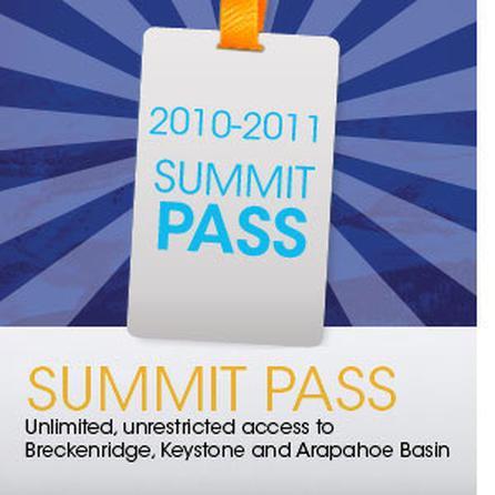 Vail Resorts 2010-2011 Summit Pass -