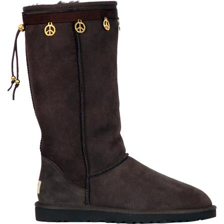 Boot Hugs Peace Sign Boot Accessory (Women's) - Chocolate